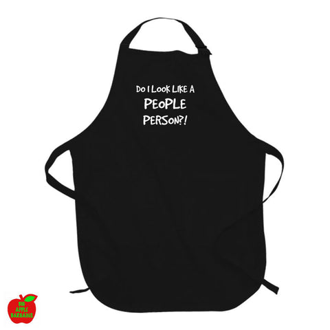 DO I LOOK LIKE A PEOPLE PERSON?! Black Apron ㋡ Big Apple Bargains