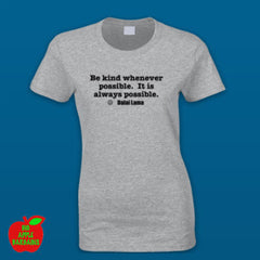 BE KIND Grey Female Tshirt ㋡ Big Apple Bargains