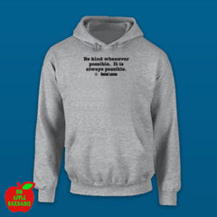 BE KIND Grey Hoodie ㋡ Big Apple Bargains