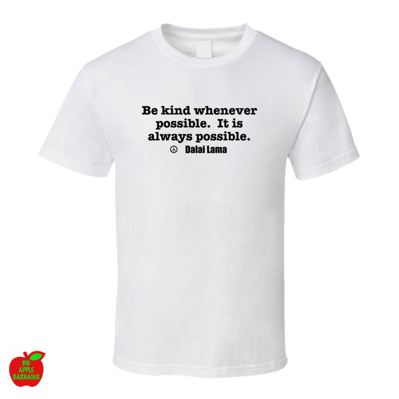 BE KIND White Tshirt ㋡ Big Apple Bargains