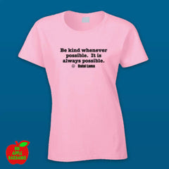 BE KIND Pink Female Tshirt ㋡ Big Apple Bargains