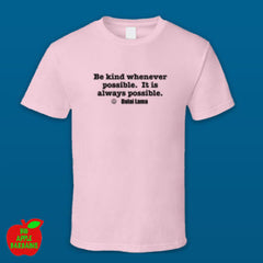 BE KIND Pink Tshirt ㋡ Big Apple Bargains