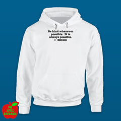 BE KIND White Hoodie ㋡ Big Apple Bargains