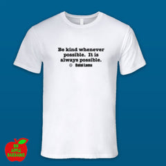 BE KIND White Male Tshirt ㋡ Big Apple Bargains