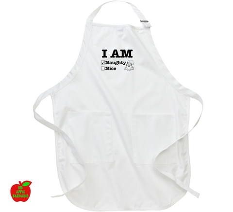 I AM Naughty / Nice (Apron) ㋡ Big Apple Bargains - 1