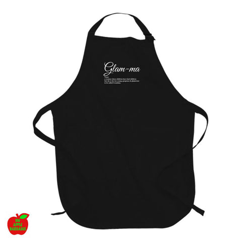 Glam-ma - Black Apron ㋡ Big Apple Bargains
