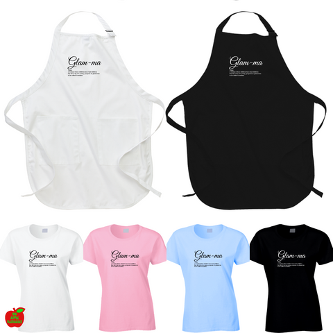 Glam-ma ✨  Tshirts / Aprons / Hoodies /Tanktops ㋡ Big Apple Bargains