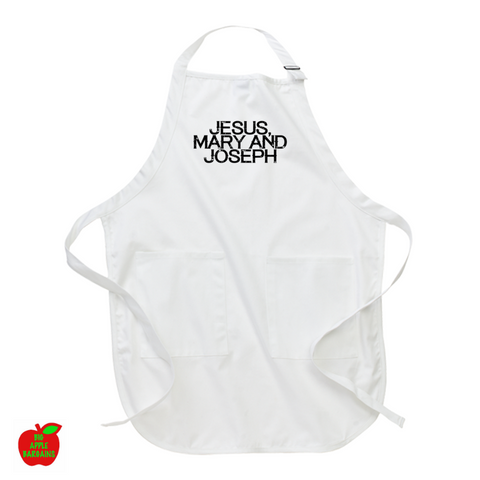 JESUS, MARY AND JOSEPH (Apron) ㋡ Big Apple Bargains - 1