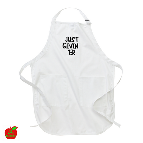 JUST GIVIN' ER (Apron) ㋡ Big Apple Bargains - 1