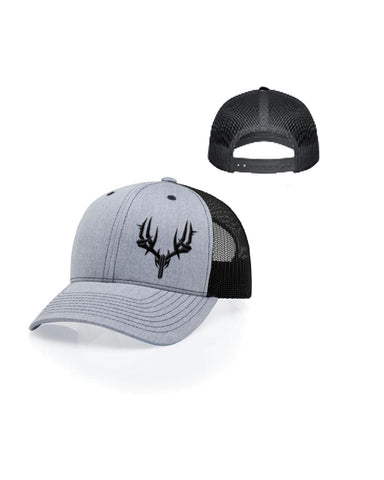 Curved bill Trucker Hat Gray/Black