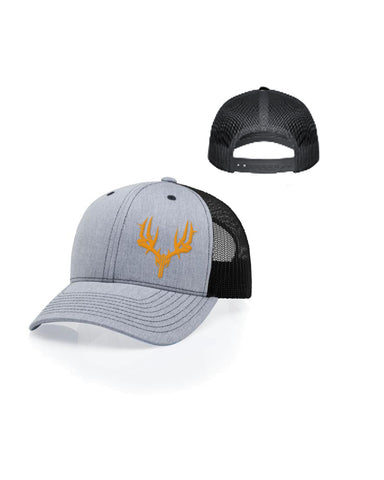 Curved bill Trucker Hat Gray/Orange