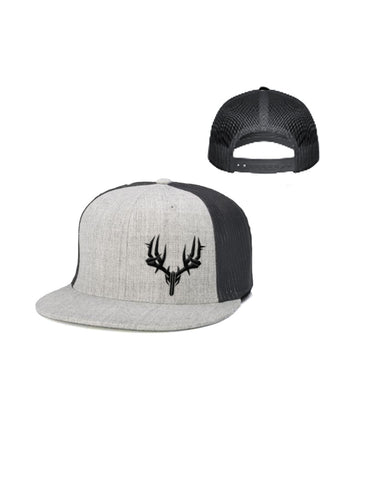 Flatbill Trucker Hat Gray/Black