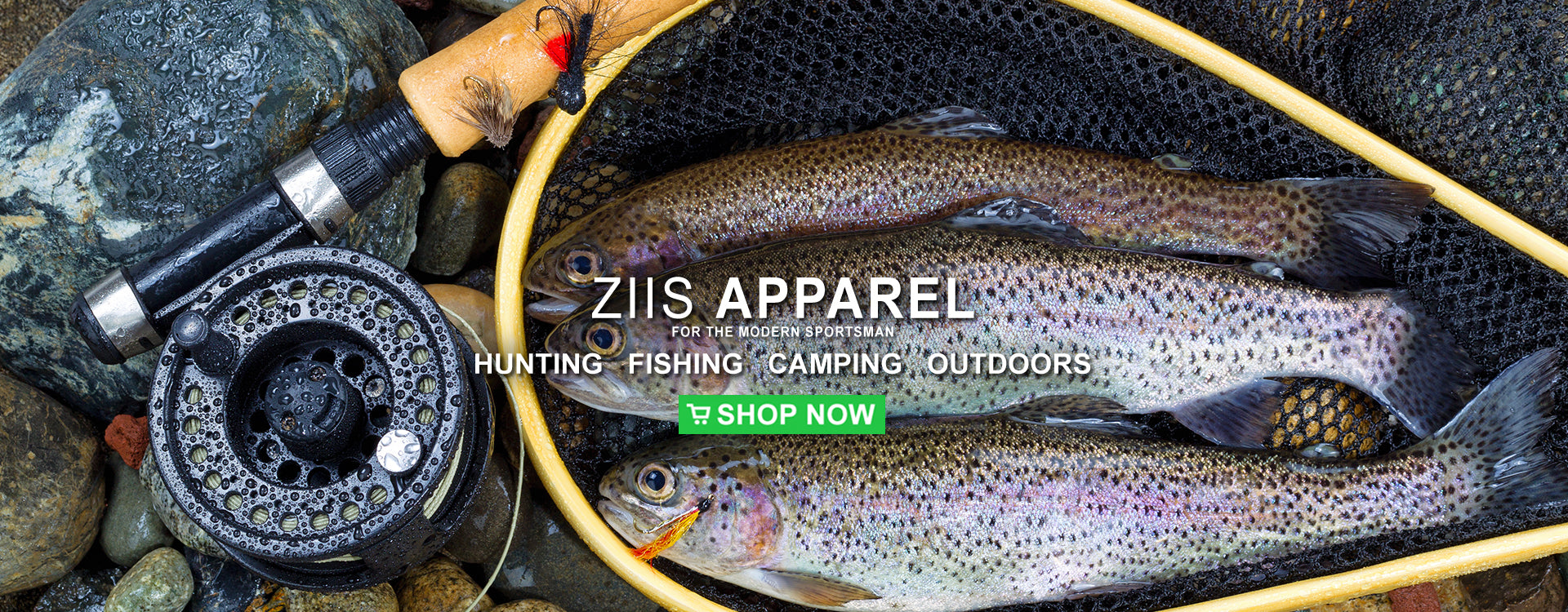 Ziis Apparel fly fishing rainbow trout