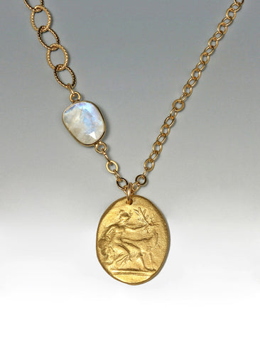 Diana with Moonstone Necklace