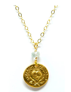 Heart with Laurel Necklace