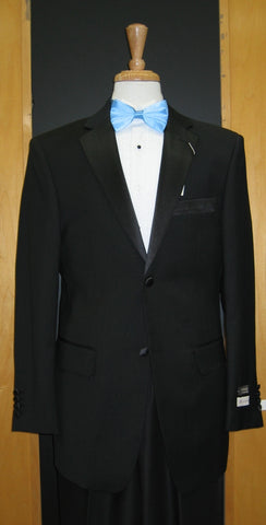 2 Button Vented Tapered Cut 100% Wool Flat Front Tuxedo COS-TUX