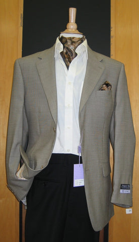2 Button Wool and Cashmere Beige Sport Coat SJ2E-532