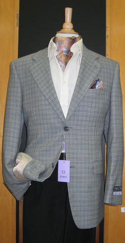 2 Button Wool and Cashmere Blue Grey Sport Coat SJ2E-692