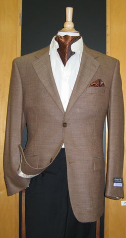 2 Button Wool and Cashmere Brown Sport Coat SJ2E-047