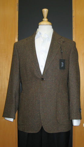 Tallia 2 Button Half Lined Patch Pocket Brown Sport Jacket
