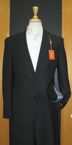 Tallia Orange 2 Button Black Tone on Tone Slim Fit  Suit