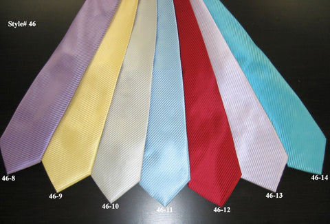 Giovanni Testi Big Knot Tie  Solid Colors Style# 46-B