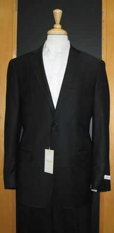Joseph Abboud 2 Button Black Wool Suit