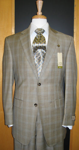 Joe by Joseph Abboud 2 Button Windowpane Wool Suit