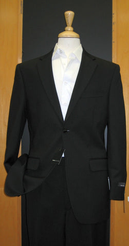 Jones New York 2 Button Black Cord Flat Front  Wool Suit