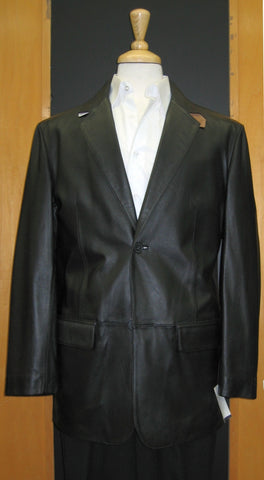Jones New York 2 Button Center Vented  Lamb Leather Sport Jacket