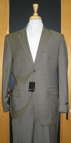 Jones New York 2 Button Flat Front Taupe Sharkskin Wool and Silk Suit