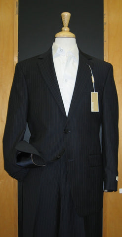 Michael Kors 2 Button Navy Pinstripe Wool Suit
