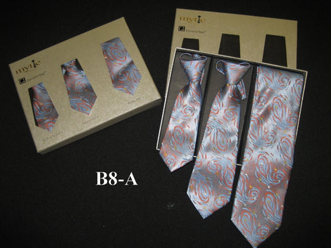 Mytie Father and Sons Matching Ties Set B8-A