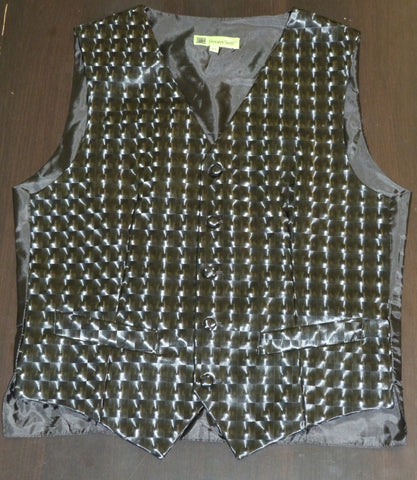Giovanni Testi Black 3D Slim Fit Vest