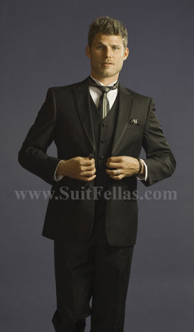 2 Button 3 Piece Peak Lapel Slim Fit Tuxedo TXCALV-4030