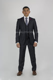 Fabio Fabrinni 2 Button 3 Piece Slim Fit Suit FF2S+V-4030 Charcoal