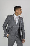 Fabio Fabrinni 2 Button 3 Piece Slim Fit Suit FF2S+V-4030 Light Grey