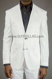 White Collarless Suit GT2CL-4961