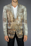2 Button Notch Lapel Milan Mural Colisium Jacket GT2S-3617