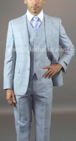 2 Button 3 Piece Slim Fit Suit GTS2V-166
