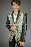 2 Button Notch Lapel Snake Skin Jacket GTQ-069