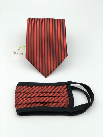 Classic Tie & Face Mask Set, 115-11 Red