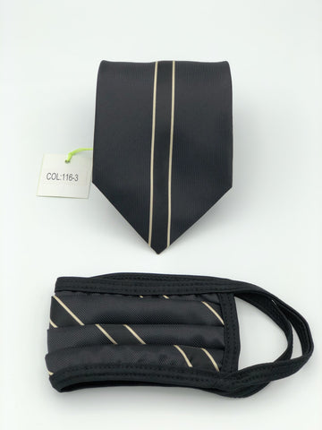 Classic Tie & Face Mask Set, 116-3 Gold