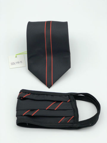 Classic Tie & Face Mask Set, 116-13 Red