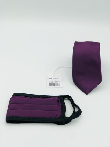 Face Mask & Tie Set S56-4, Purple