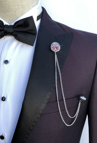Giovanni Testi Lapel Pin with Chain GTBC11
