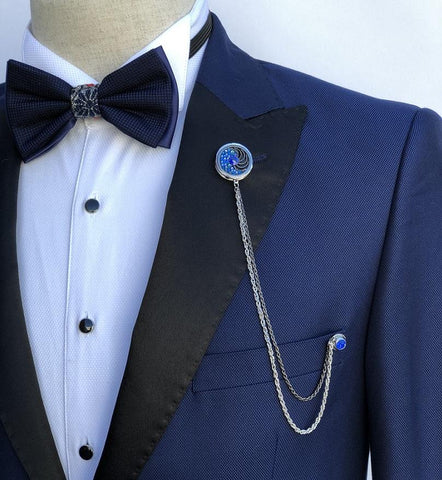 Giovanni Testi Lapel Pin with Chain GTBC9