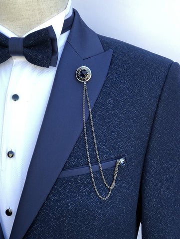 Giovanni Testi Lapel Pin with Chain GTBC1