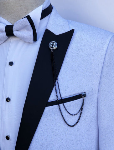 Giovanni Testi Lapel Pin with Chain GTBC12