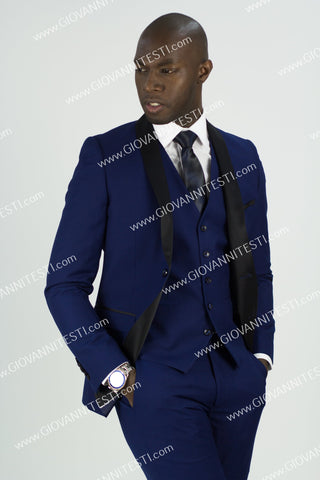 2 Button Shawl Lapel Royal Blue Slim Fit Suit FF2SSX+V-1230